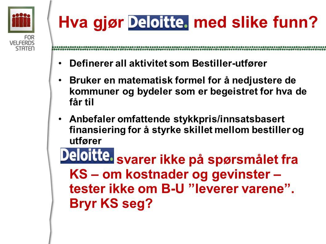 Hva gjør Deloitte med slike funn