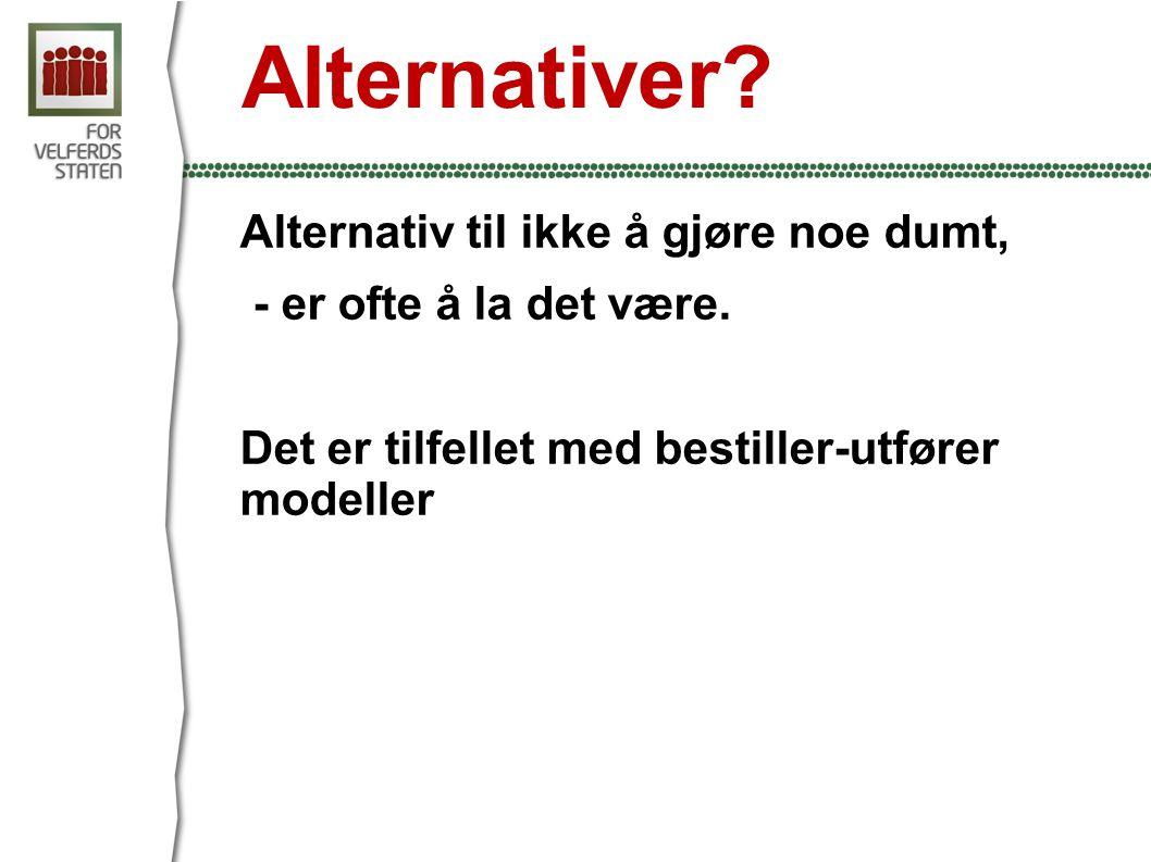 Alternativer Alternativ til ikke å gjøre noe dumt,
