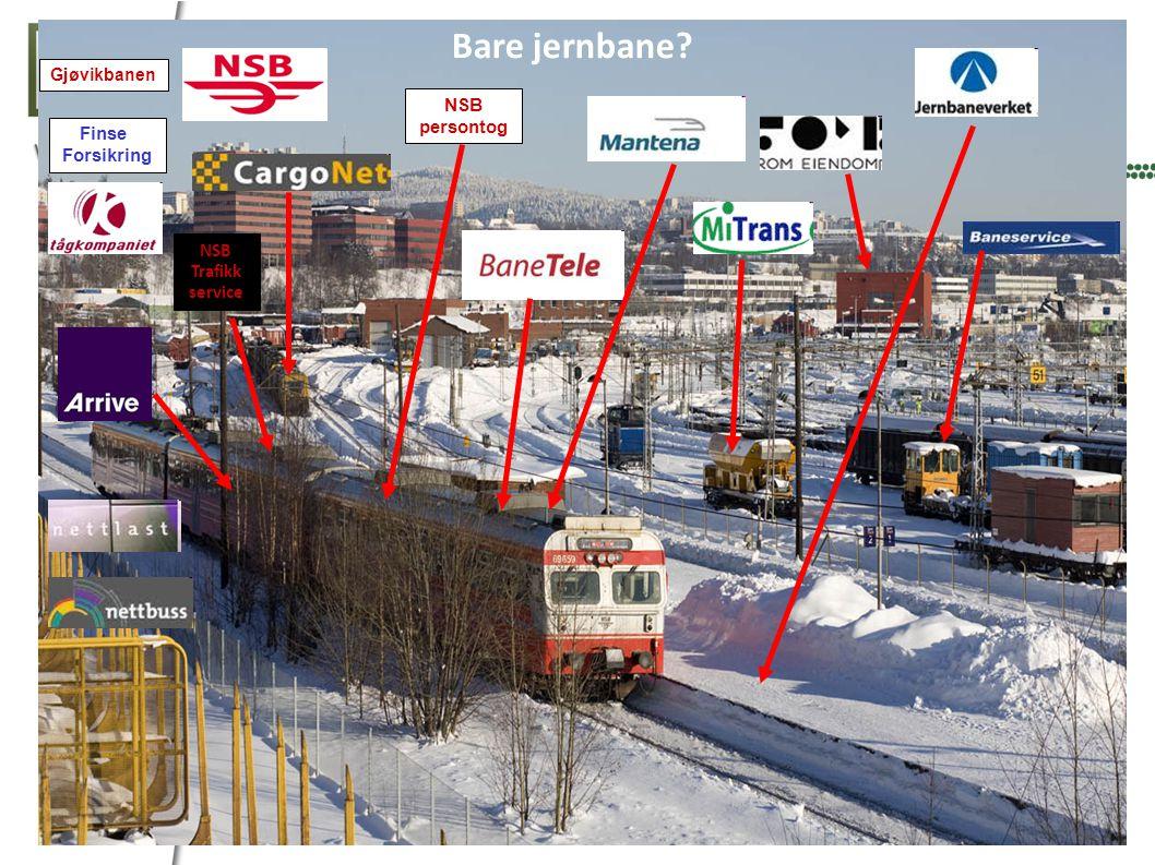 Bare jernbane NSB persontog Finse Forsikring NSB Trafikk service