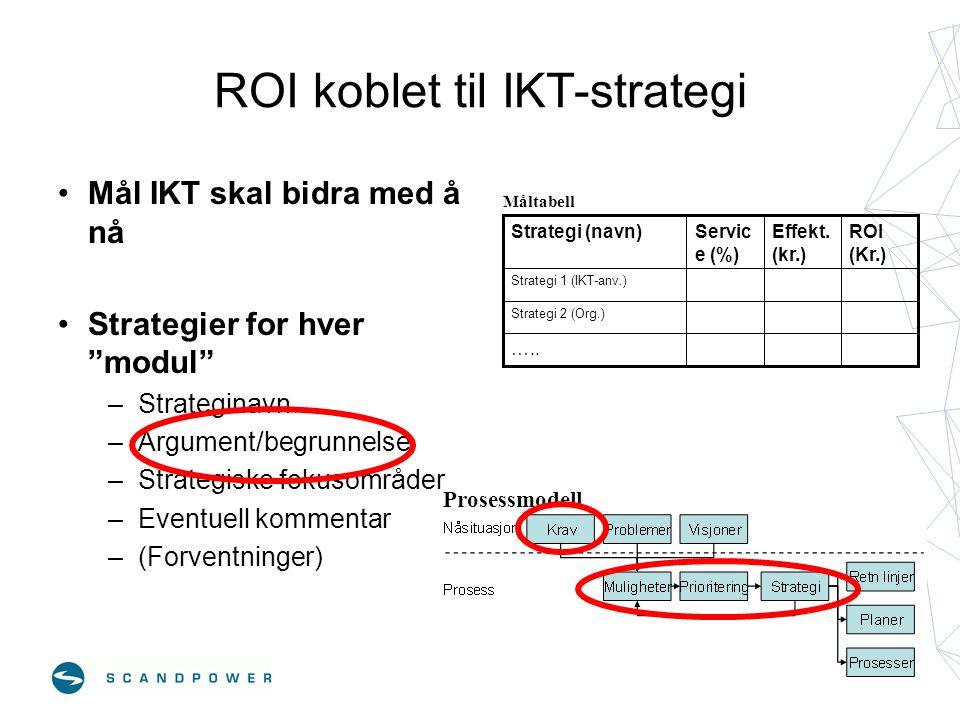 ROI koblet til IKT-strategi