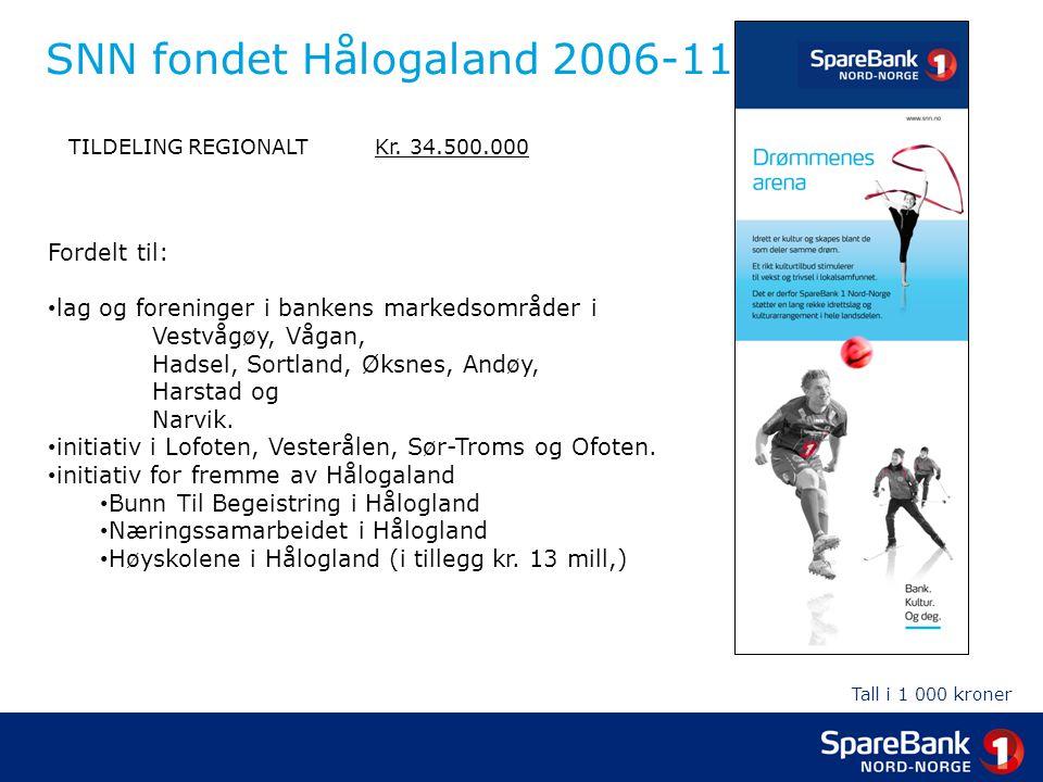 SNN fondet Hålogaland 2006-11