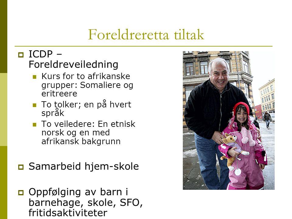 Foreldreretta tiltak ICDP – Foreldreveiledning Samarbeid hjem-skole