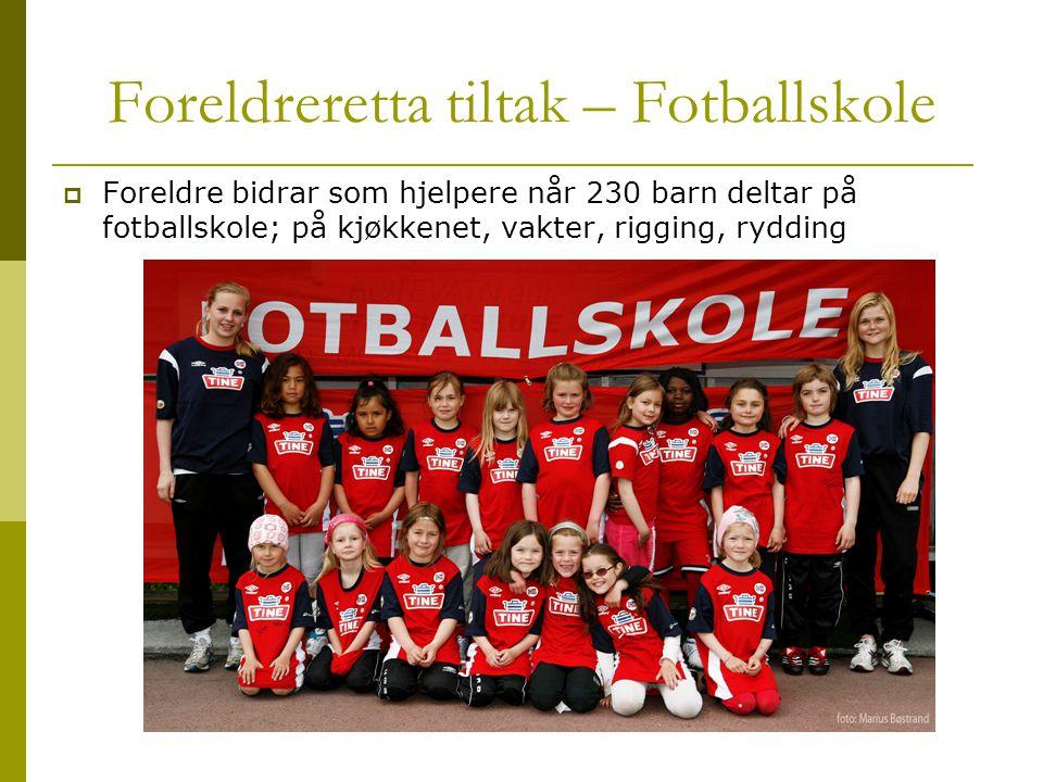 Foreldreretta tiltak – Fotballskole