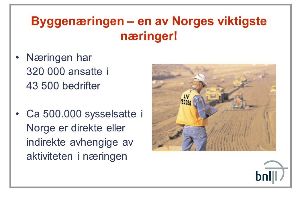 Byggenæringen – en av Norges viktigste næringer!