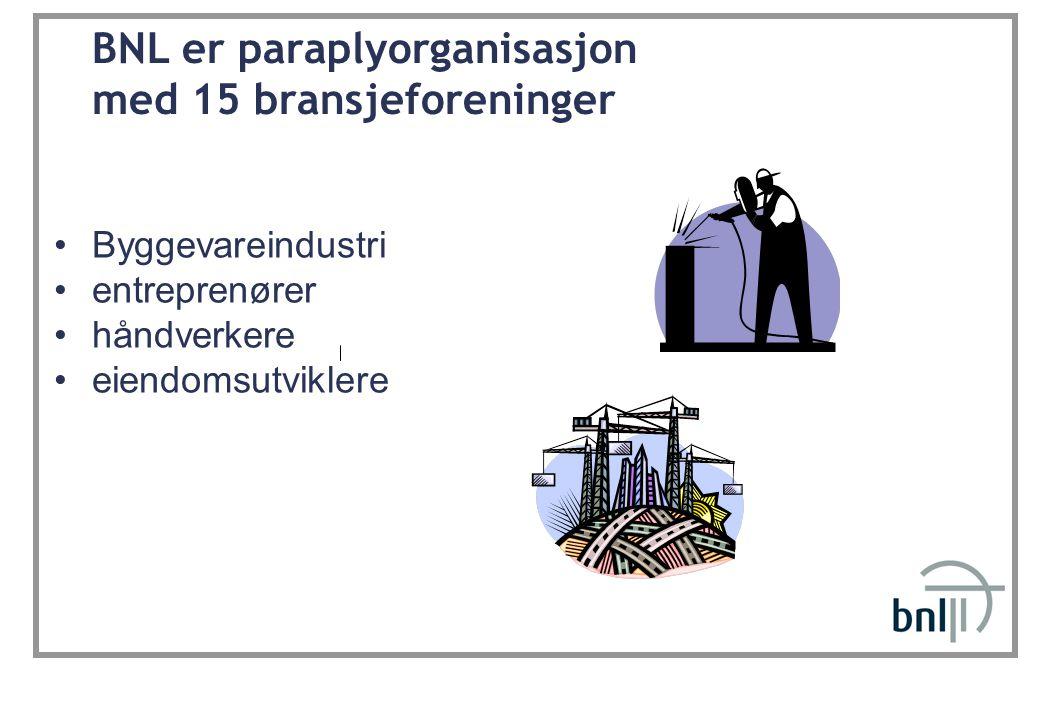 BNL er paraplyorganisasjon med 15 bransjeforeninger