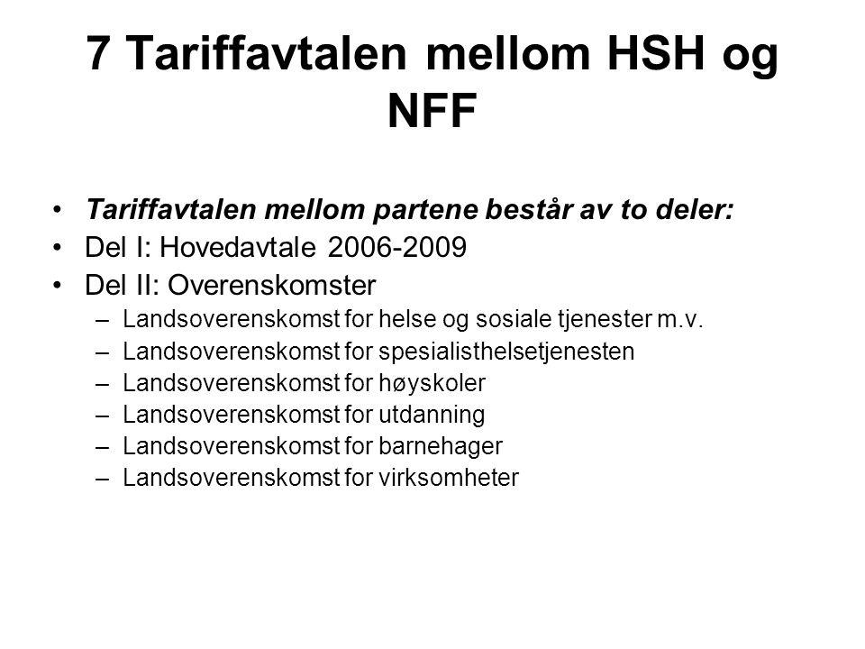 7 Tariffavtalen mellom HSH og NFF