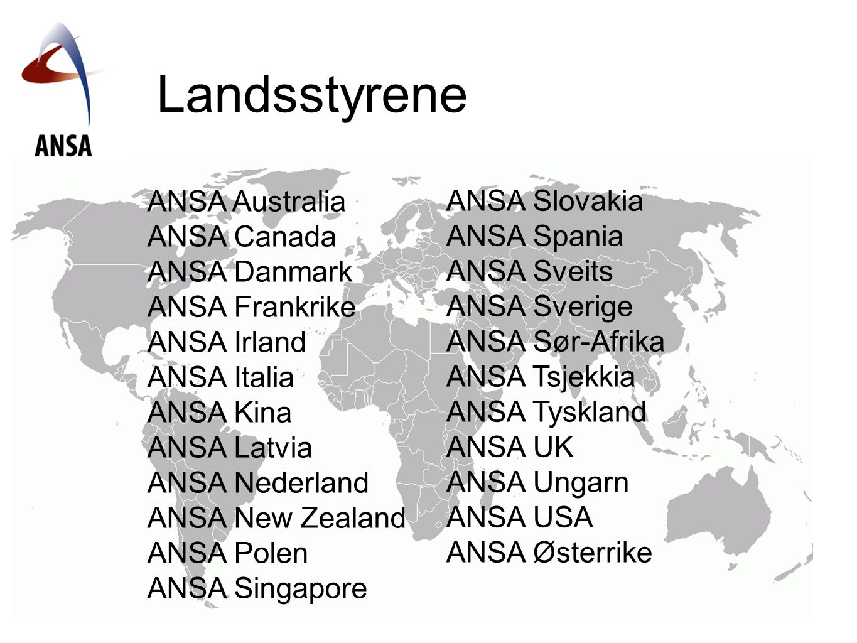 Landsstyrene ANSA Slovakia ANSA Australia ANSA Spania ANSA Canada