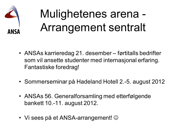 Mulighetenes arena -Arrangement sentralt