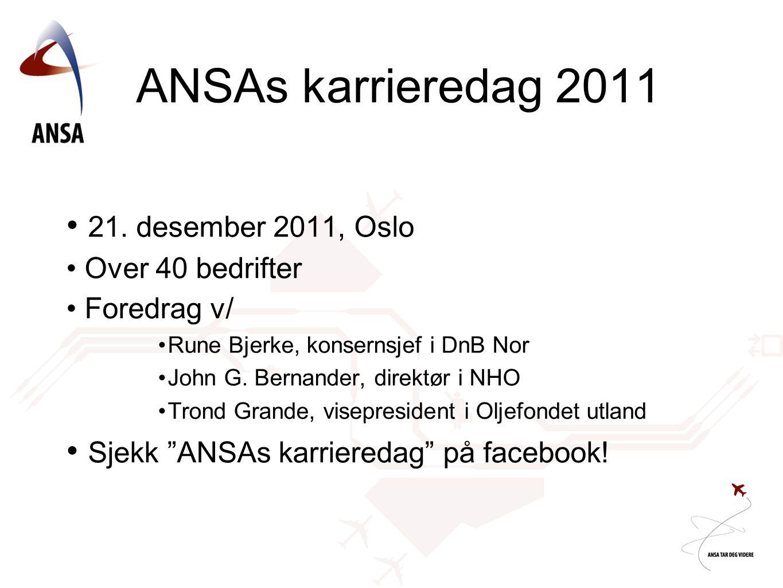 ANSAs karrieredag 2011 21. desember 2011, Oslo