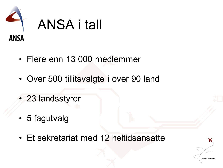 ANSA i tall Flere enn 13 000 medlemmer