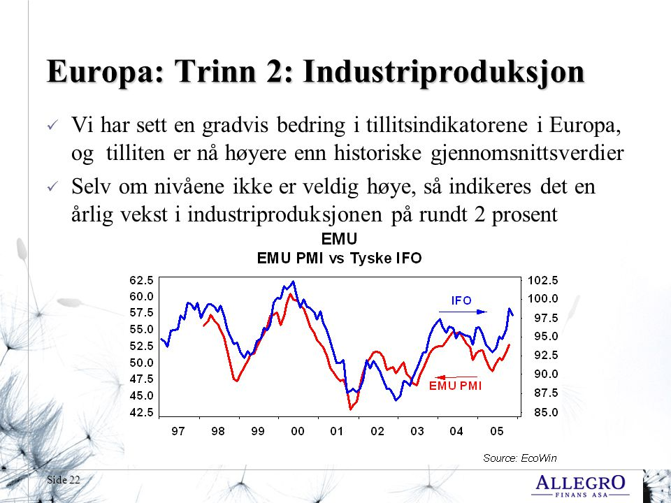 Europa: Trinn 2: Industriproduksjon