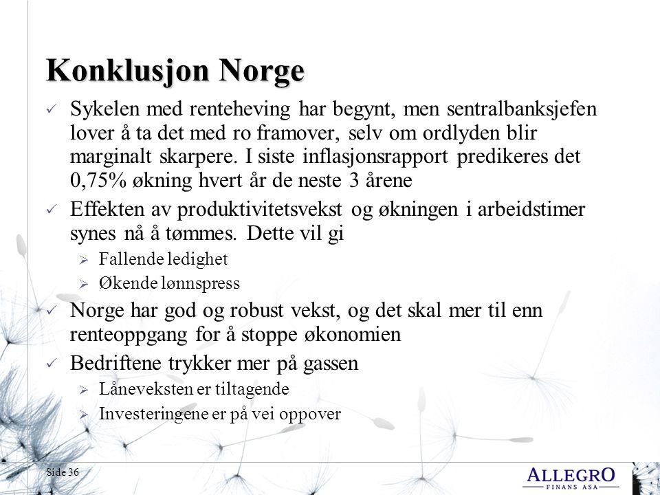 Konklusjon Norge