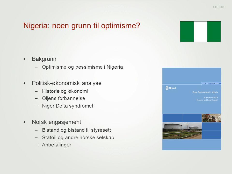 Nigeria: noen grunn til optimisme