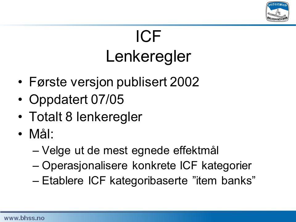ICF Lenkeregler Første versjon publisert 2002 Oppdatert 07/05