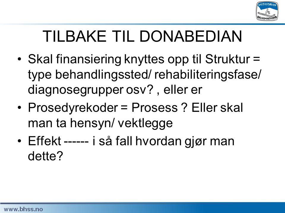 TILBAKE TIL DONABEDIAN