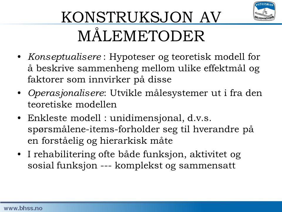 KONSTRUKSJON AV MÅLEMETODER