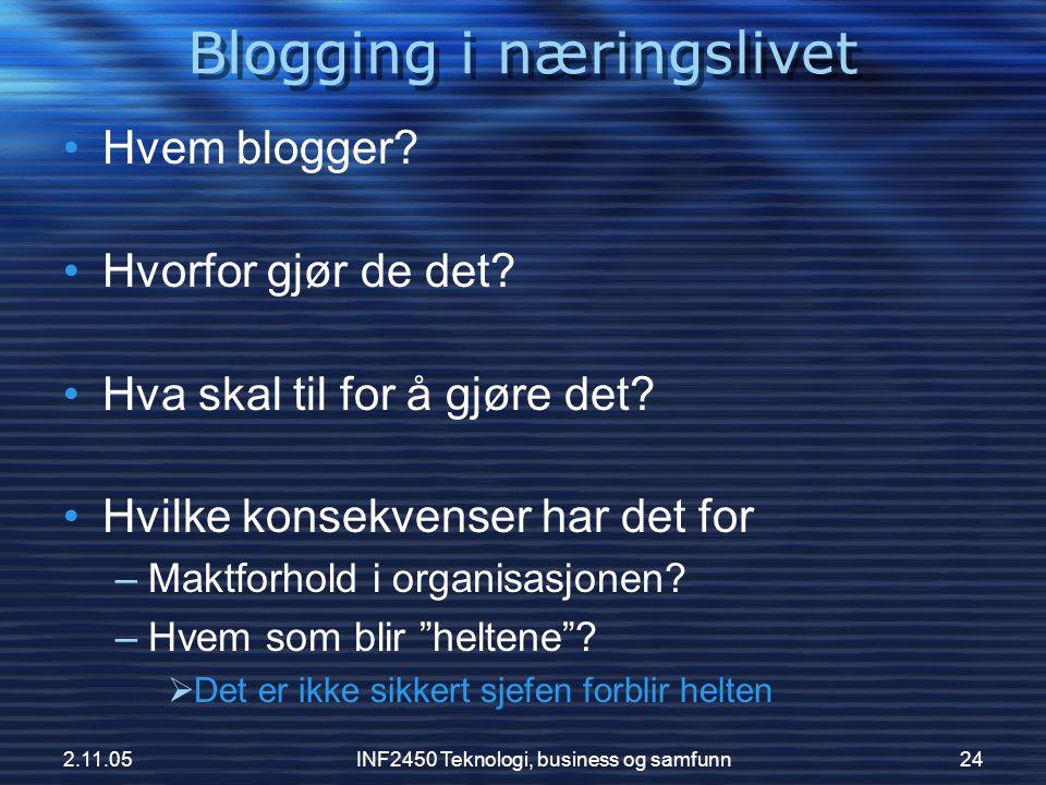 Blogging i næringslivet