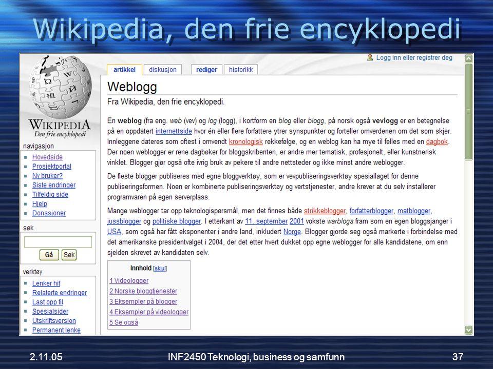 Wikipedia, den frie encyklopedi