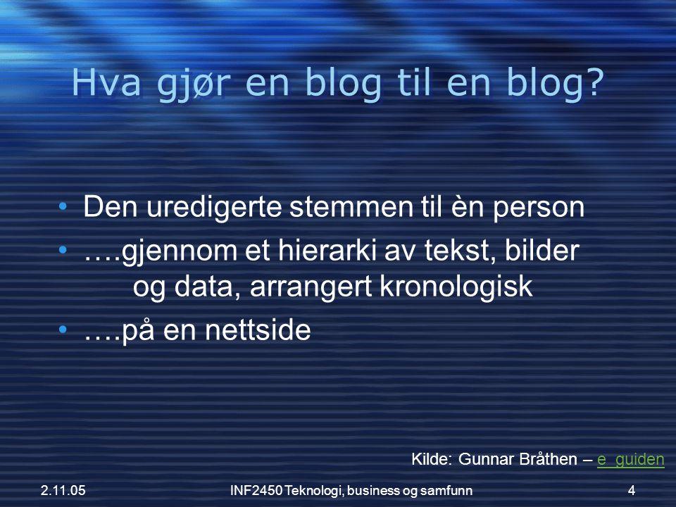 Hva gjør en blog til en blog