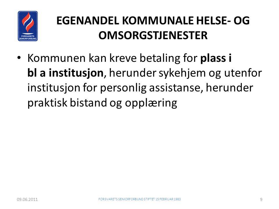 EGENANDEL KOMMUNALE HELSE- OG OMSORGSTJENESTER