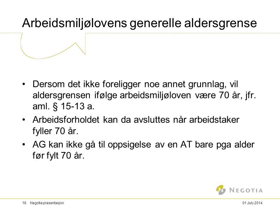Arbeidsmiljølovens generelle aldersgrense