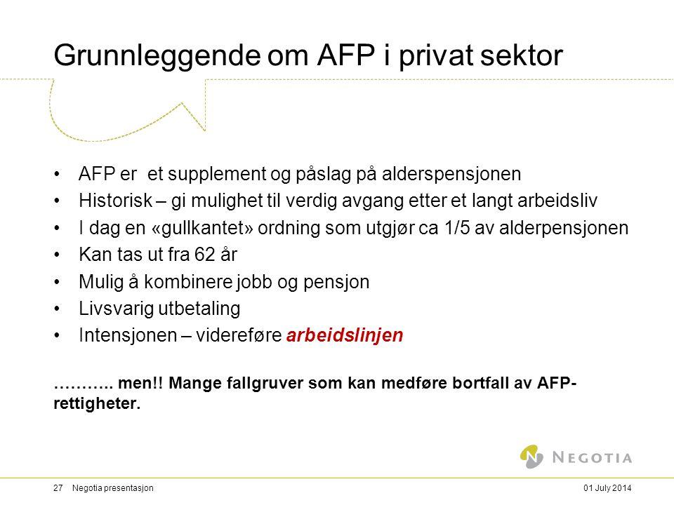 Grunnleggende om AFP i privat sektor