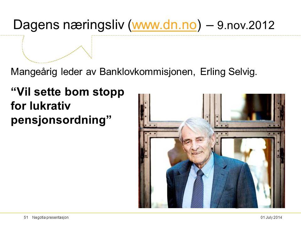 Dagens næringsliv (www.dn.no) – 9.nov.2012