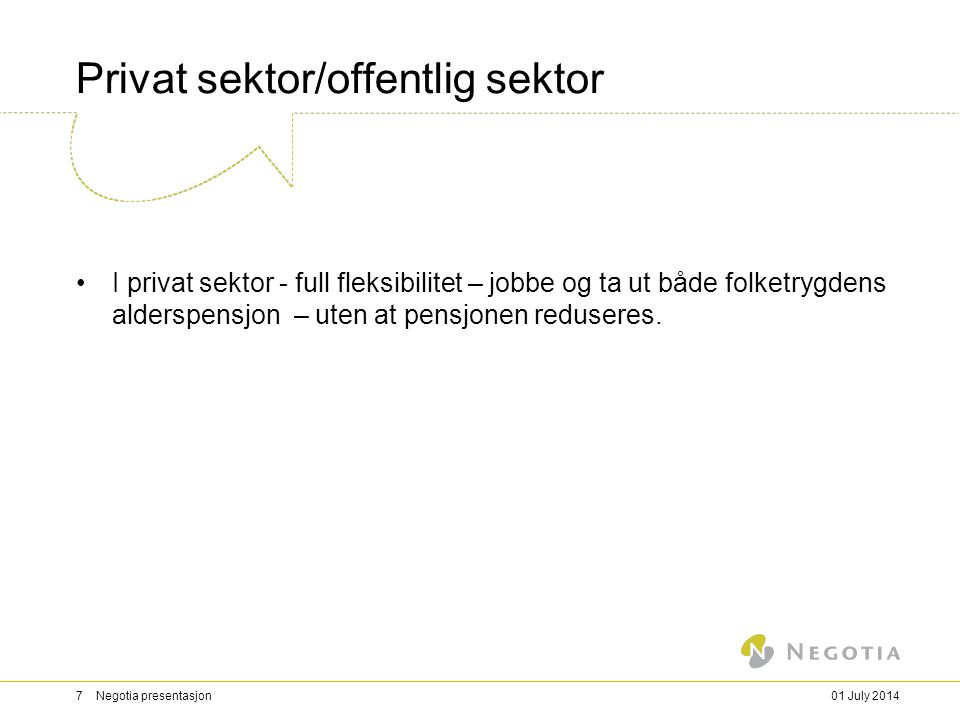 Privat sektor/offentlig sektor