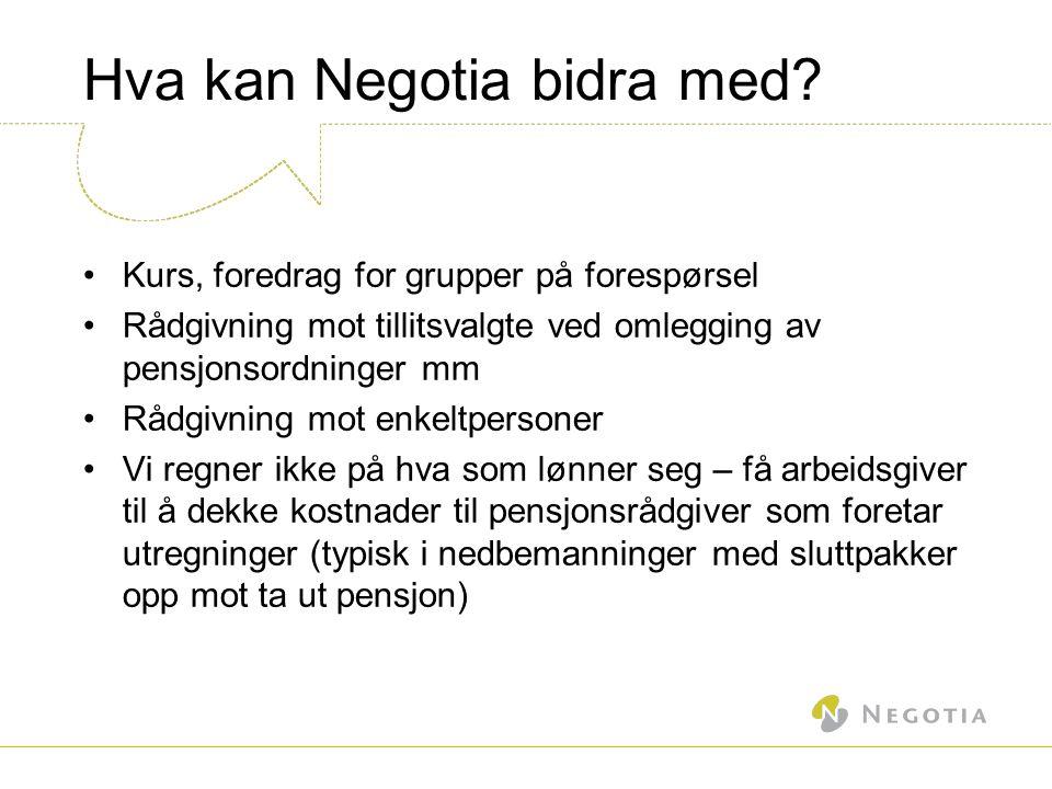 Hva kan Negotia bidra med