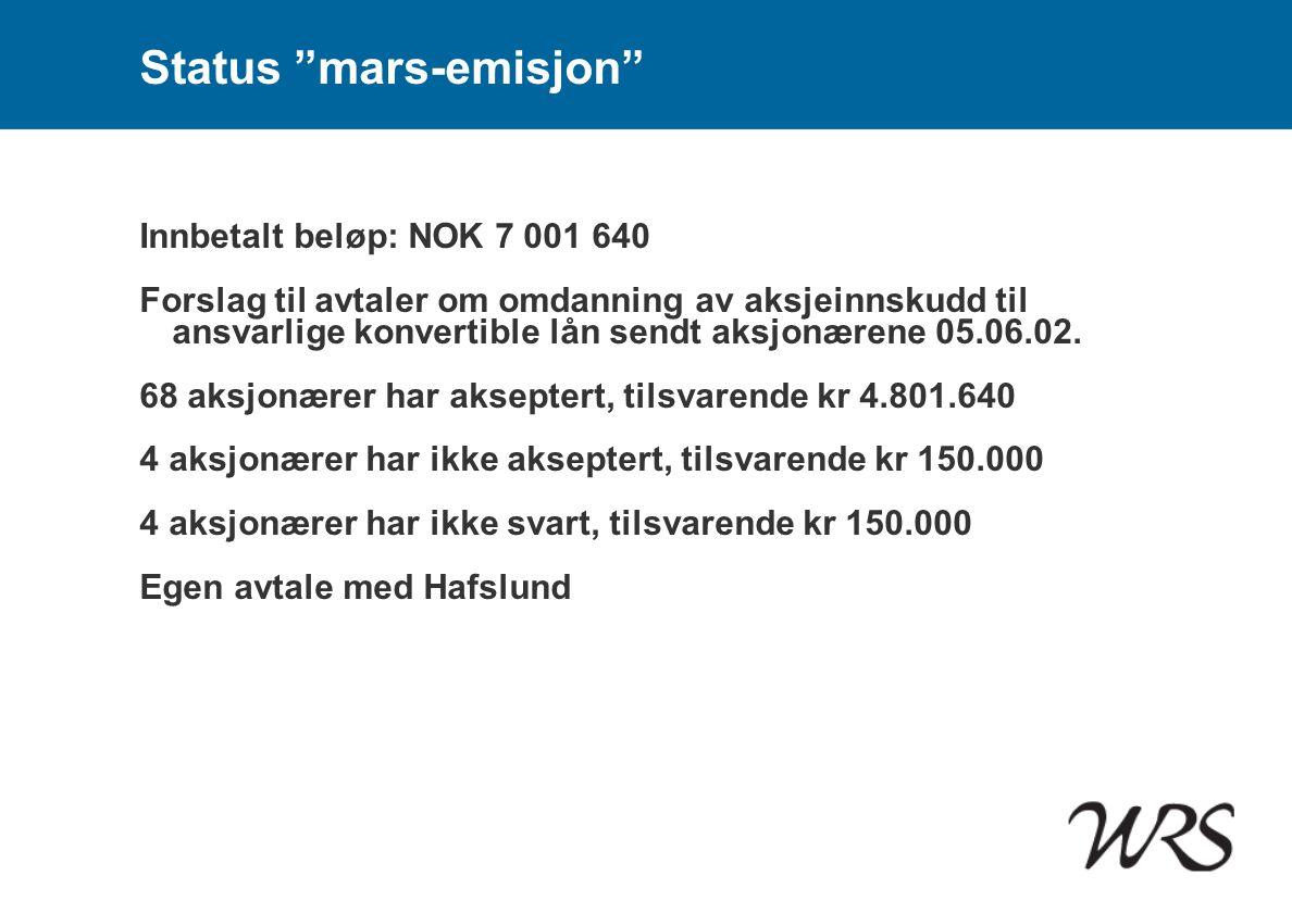 Status mars-emisjon