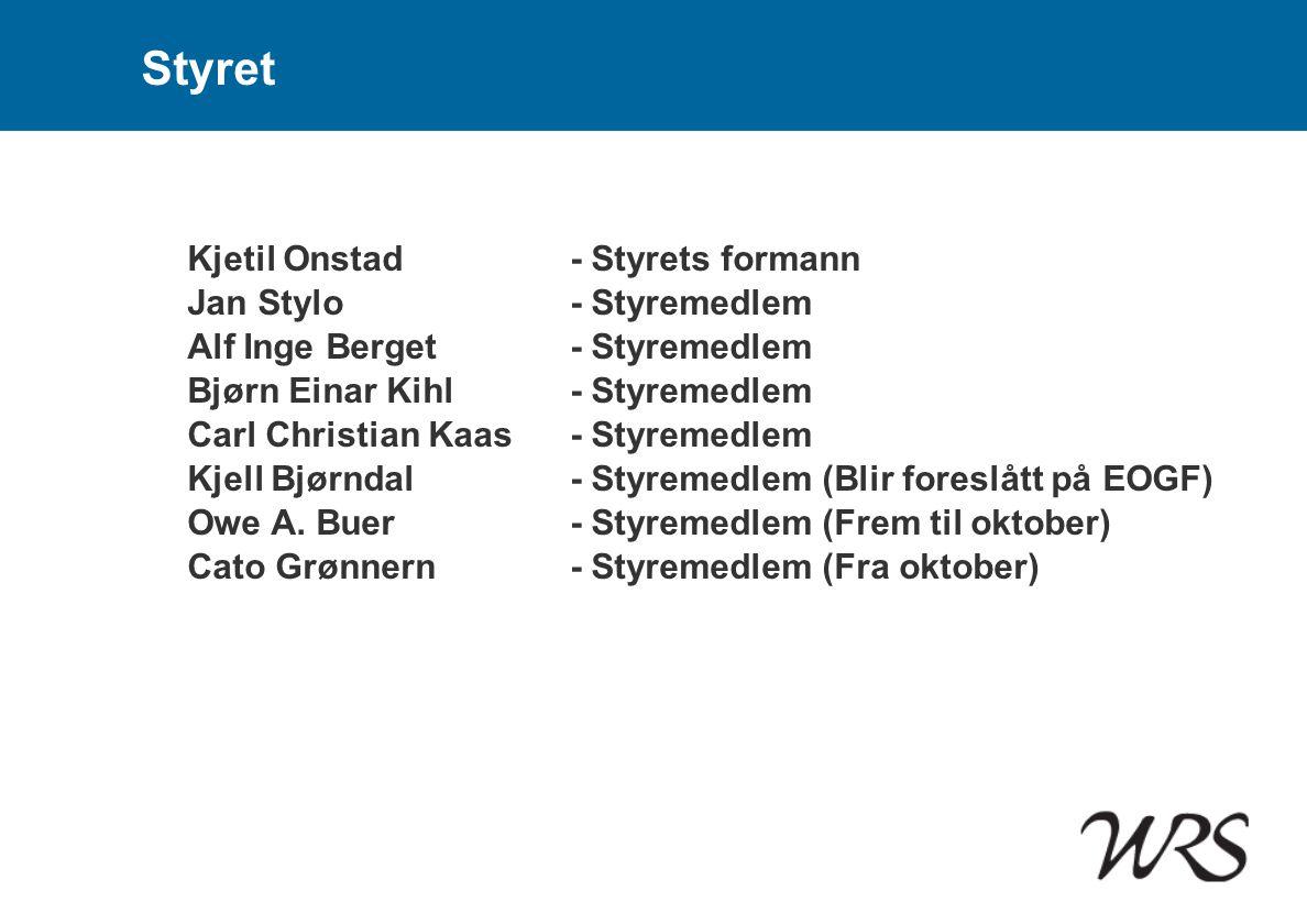 Styret Kjetil Onstad - Styrets formann Jan Stylo - Styremedlem