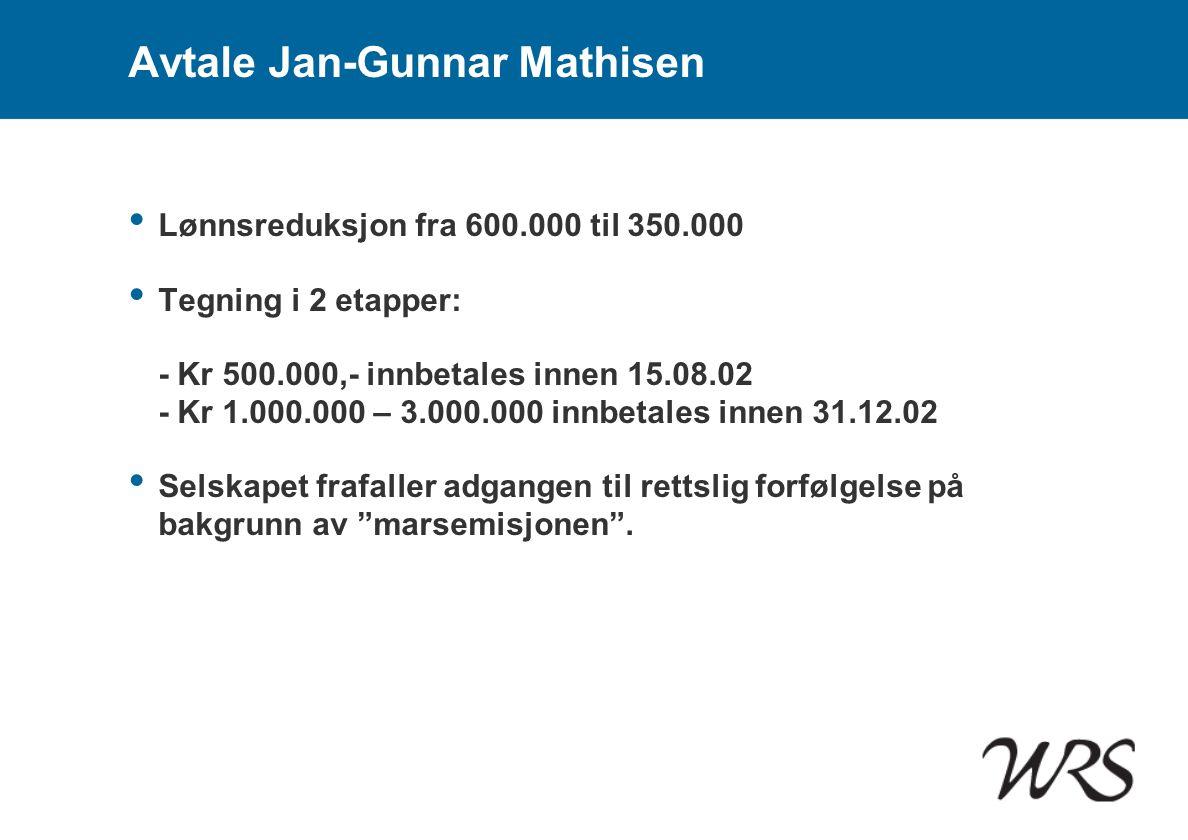 Avtale Jan-Gunnar Mathisen