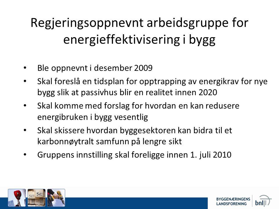 Regjeringsoppnevnt arbeidsgruppe for energieffektivisering i bygg