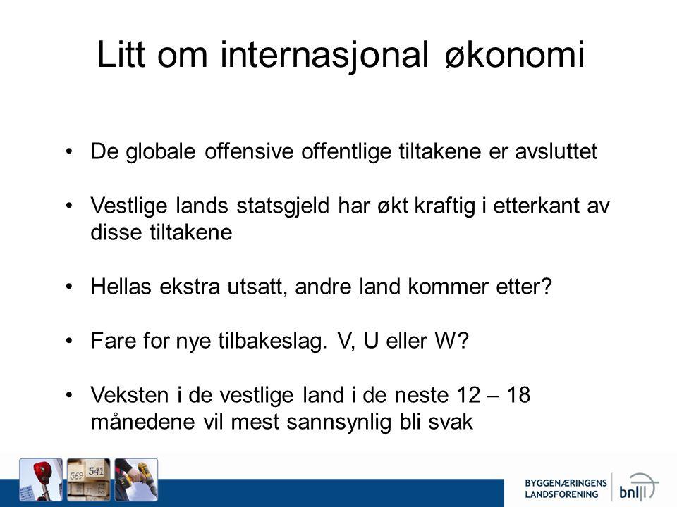 Litt om internasjonal økonomi