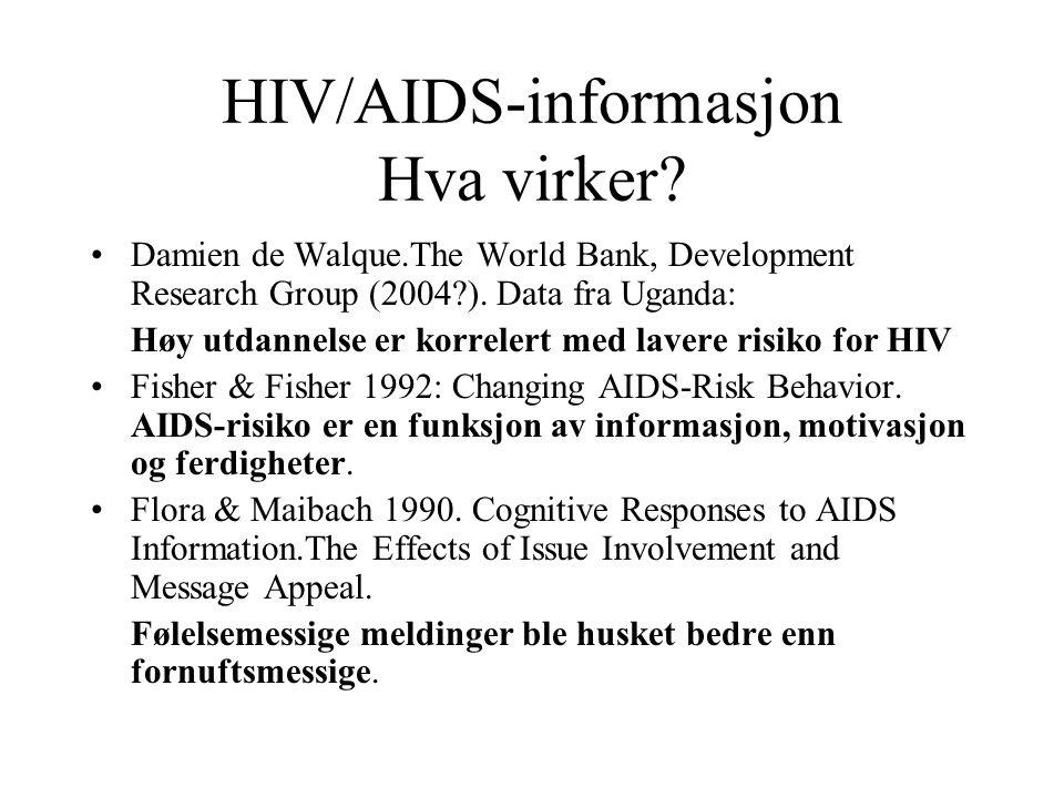 HIV/AIDS-informasjon Hva virker