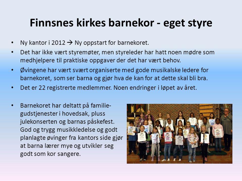 Finnsnes kirkes barnekor - eget styre