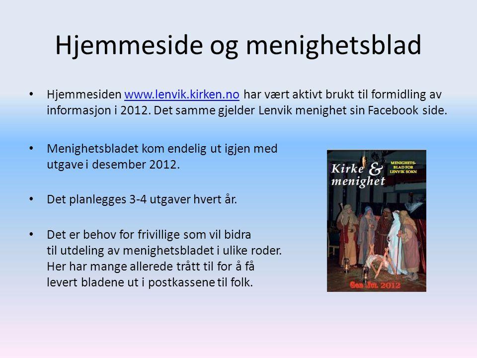 Hjemmeside og menighetsblad