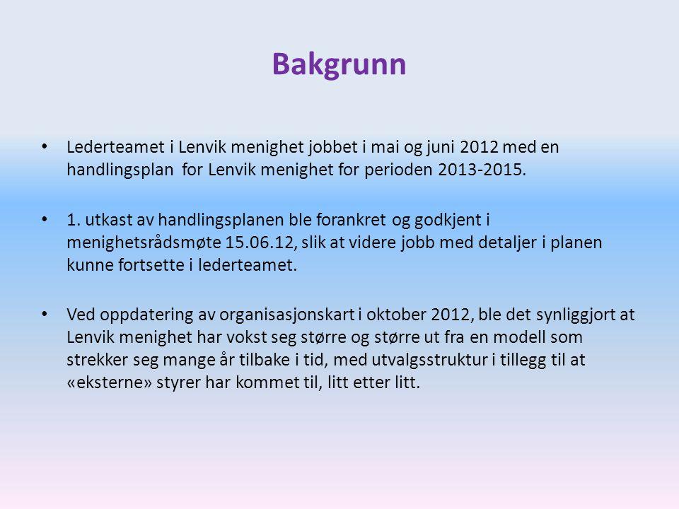 Bakgrunn Lederteamet i Lenvik menighet jobbet i mai og juni 2012 med en handlingsplan for Lenvik menighet for perioden 2013-2015.
