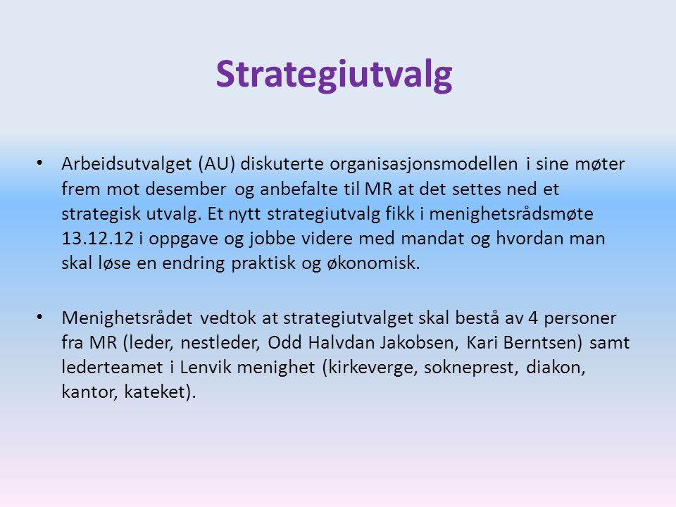Strategiutvalg