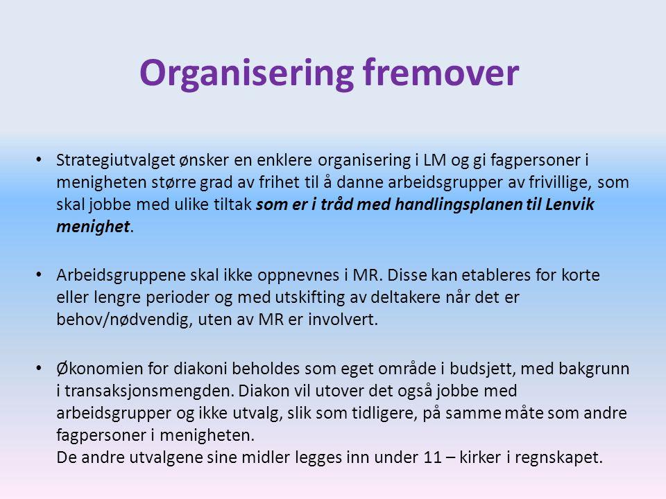 Organisering fremover