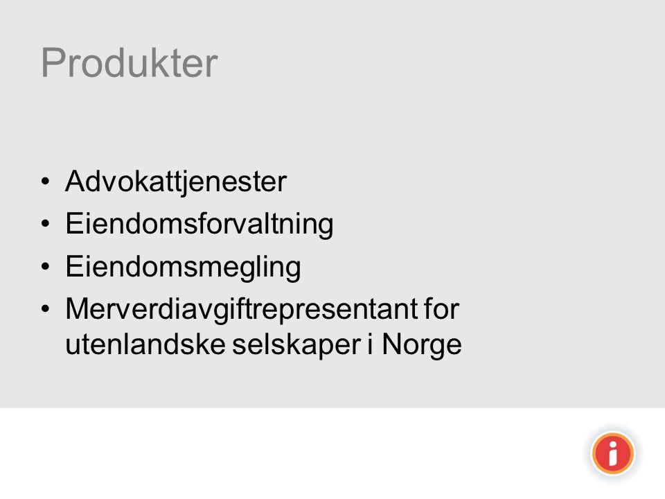 Produkter Advokattjenester Eiendomsforvaltning Eiendomsmegling