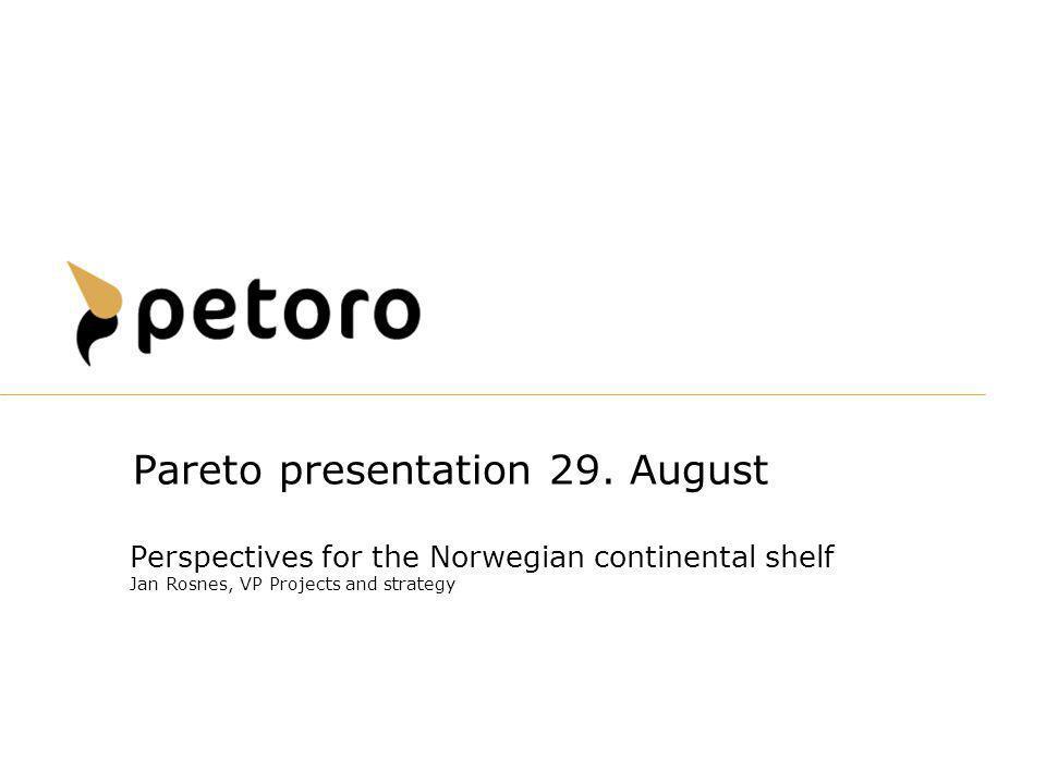 Pareto presentation 29. August