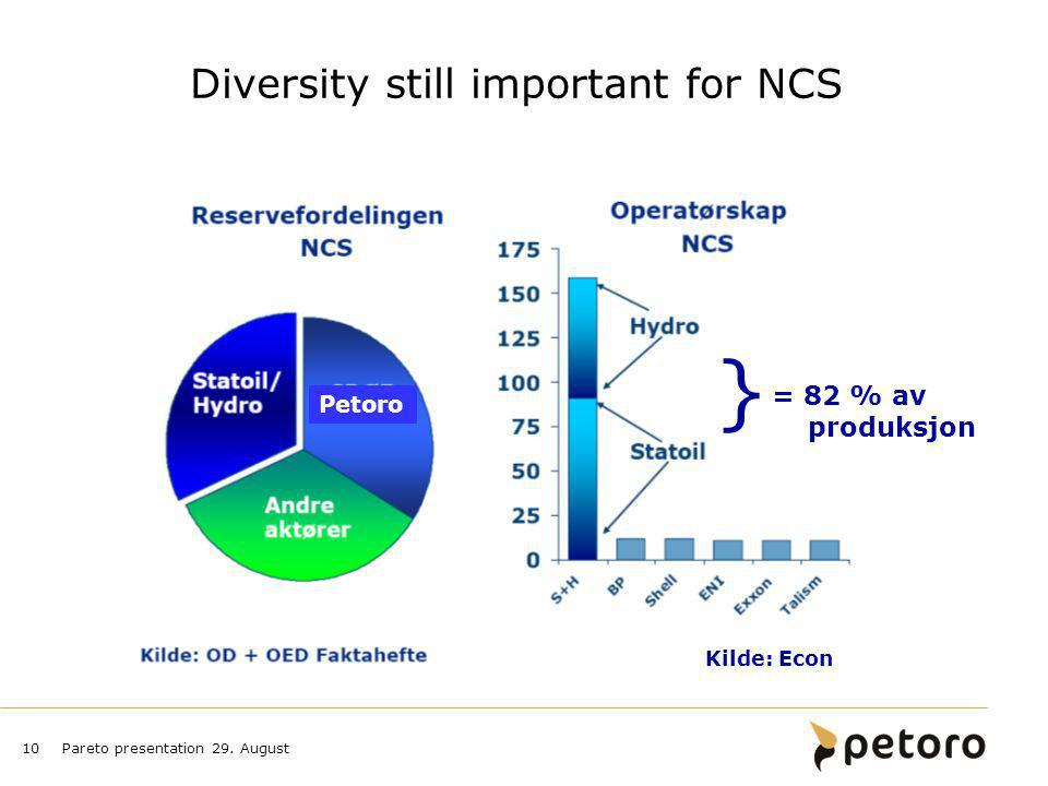 Diversity still important for NCS
