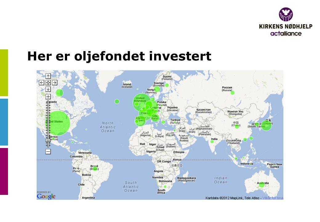 Her er oljefondet investert
