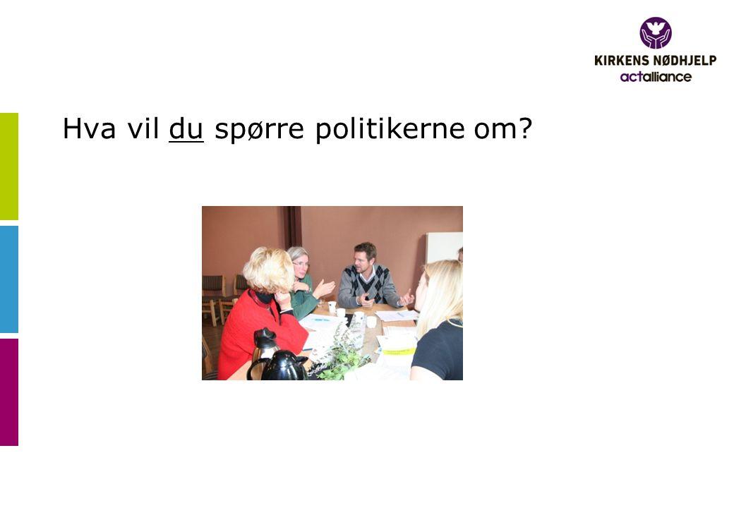Hva vil du spørre politikerne om