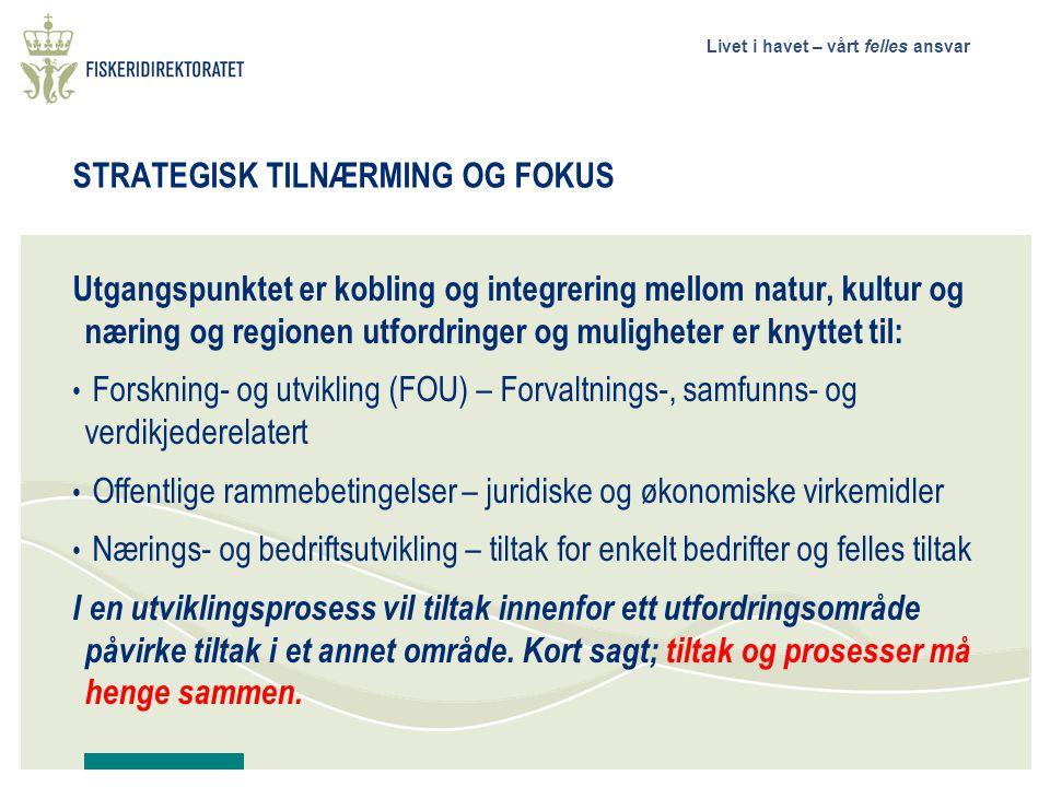 STRATEGISK TILNÆRMING OG FOKUS