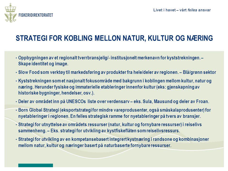 STRATEGI FOR KOBLING MELLON NATUR, KULTUR OG NÆRING