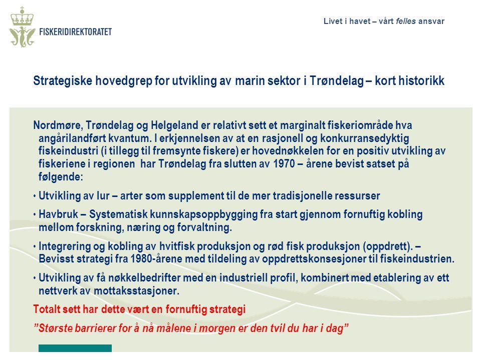 Strategiske hovedgrep for utvikling av marin sektor i Trøndelag – kort historikk