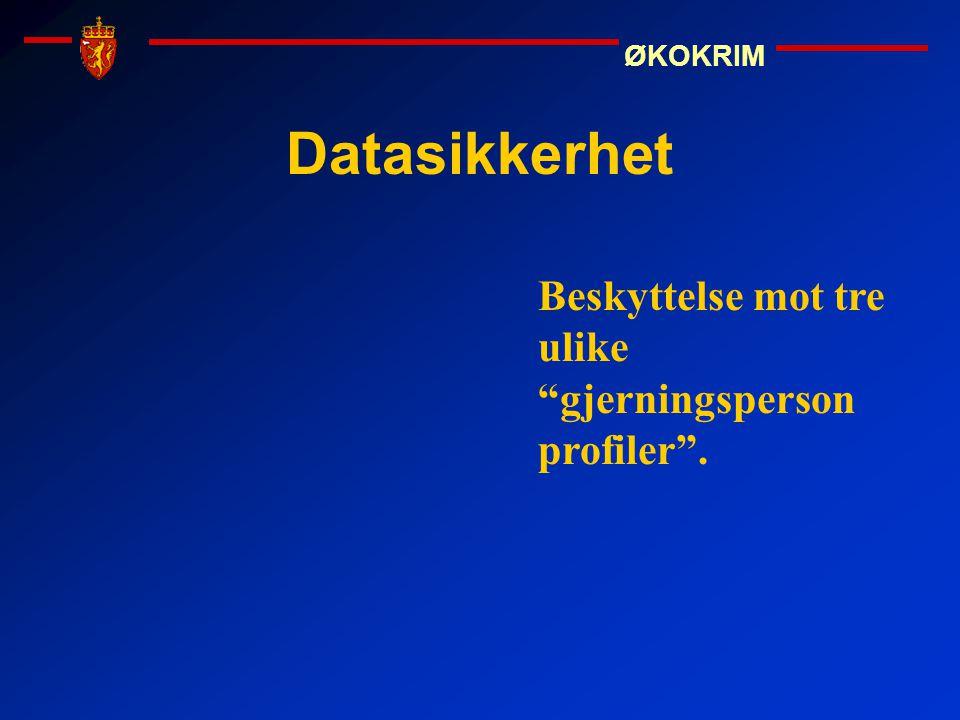 Datasikkerhet Beskyttelse mot tre ulike gjerningsperson profiler .