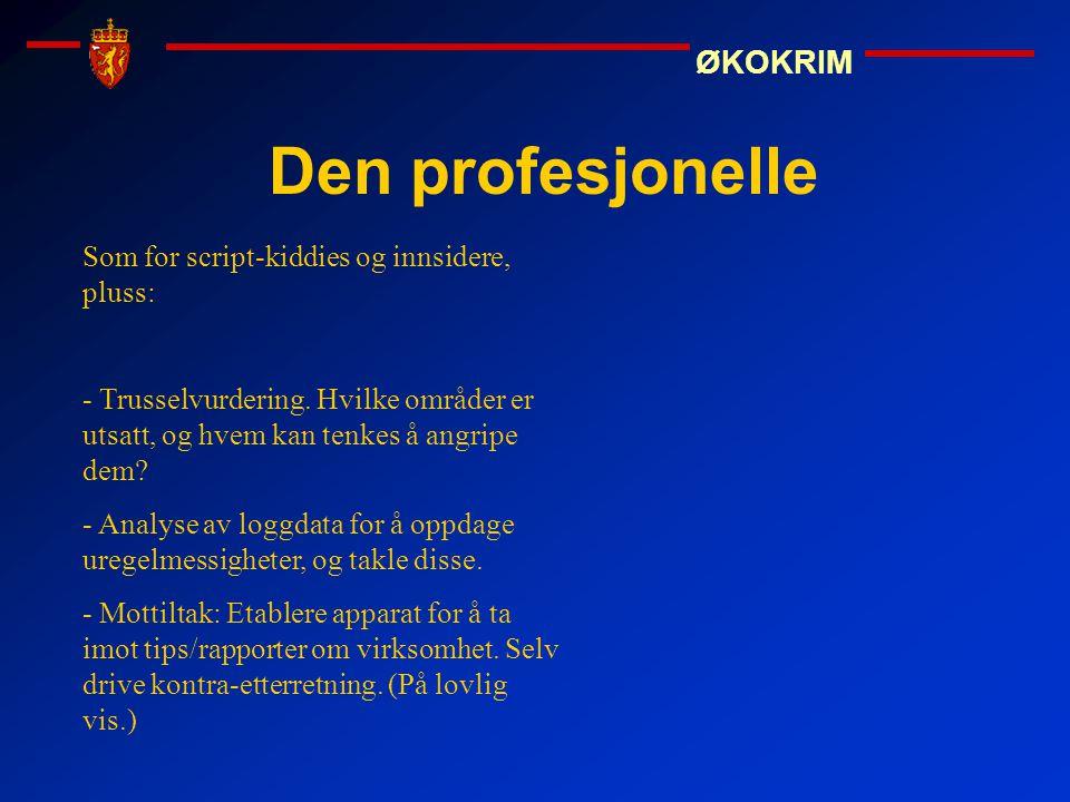 Den profesjonelle Som for script-kiddies og innsidere, pluss: